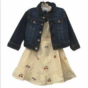 Baby Gap Jean Jacket & Gymboree Dress sz 12-18mo